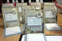 Easel cards with calendars