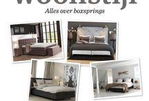 Woonstijl - Boxsprings / Een leuke boxspring gezien? Laat een reactie achter op de onderstaande link en pin mee!  Wil je meer weten over boxsprings? Ga dan naar www.woonstijl.nl.  http://www.pinterest.com/pin/14777505001128639/