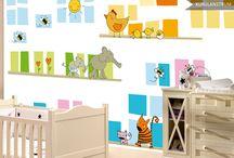 MURALES INFANTILES / Papel de pared para decorar las habitaciones infantiles