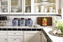 above cabinet decorating / by Cathy Greene