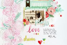 Pink Paislee projects and layouts