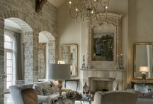 Making a Barn a Home / Making a Barn a Home! Embracing the high ceilings, raw materials, large doors, open plan space filled with french inspired furniture and decor.