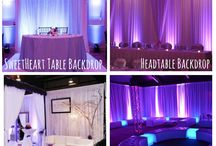 Pipe & Drape Backdrop Inspiration / #Pipe and #drape examples for your #event or #wedding #reception ! #DIY #Inspiration #Ideas #pipeanddrape