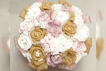 """Bouquet de Mariée """" Diamants et Perles """""""