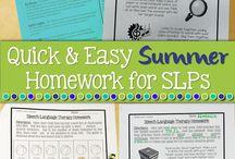 Speech Tx: summer/holiday homework