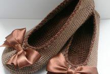 crochet, knitting slippers
