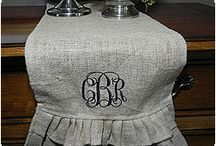 All About Burlap / The hottest trends this year? Burlap everything!