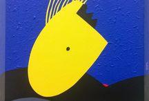 """Exhibition """"JOSEF KURSKY"""" / """"O trabalho do artista checo Josef Kursky toma forma com a independência das formas e a harmonia das cores. Nas composições o mais importante não é o significado mas sim o sentimento aberto de liberdade. A pintura é dissociada de qualquer sistema de representação ou de figuração de objectos reconhecíveis e revela a autonomia do artista e a sua capacidade de expressar seus sentimentos""""."""