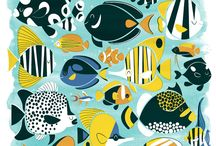 Fish art illustrations / Gallery with ilustrations of fish made with different techniques.