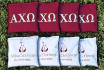 Alpha Chi Omega Cornhole Boards, Outdoor Games, Giant Jenga / Buy great Alpha Chi Omega Cornhole Boards and Corn Hole Bags, Outdoor games and the Alpha Chi Omega Giant Jenga Style Tumble Tower Game