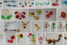 12. THUMB HAND FOOT PAINTING / THUMB HAND FOOT PAINTING - ART FOR KIDS