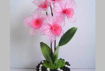 kwiatki nylon