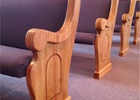 Church Pew Designs / Custom Made Church Pews by Born Again Pews