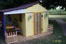 cabane et palettes