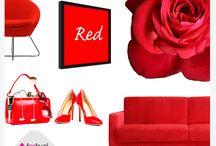 Królestwo czerwieni / Czerwień - najgorętsza ze wszystkich barw, kolor miłości, pasji, to siły witalne, życie i piękno :)