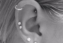 Helix piercings
