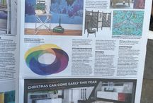 Sonya Winner In The Press / Sonya Winner and her beautiful contemporary rugs in vibrant colours are often featured in the mainstream and interior design press around the world.