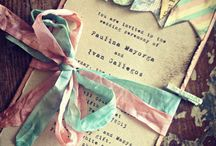 W Invitation & Place cards