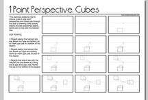 Linear perspective drawings