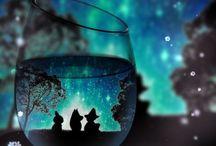 Moomin glass
