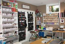 Craft Rooms / Ideas for organizing a well supplied craft room.