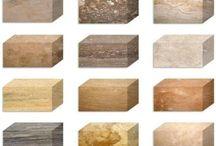 Travertin / http://ro.wikipedia.org/wiki/Travertin :     În general, travertinul este poros. Dacă se închid porii cu praf de ciment, prin șlefuire și lustruire travertinul capătă o suprafață la fel de fină ca și marmura.  Travertinul se folosește ca piatră de construcție, la placatul fațadelor, pereților interiori și a pardoselilor sau ca blat de bucătărie sau baie.