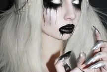 creepy and goth make up