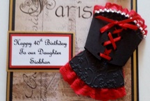 Handmade Dress Cards by card art kilcoole / All items on this board are handmade by Yvonne Tune Card Art Kilcoole Blog