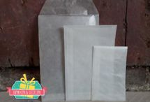 Loonzakjes - Pergamijn - Kraft - Wit
