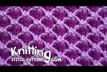 knitting patterns and work