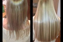 Hair extensions at revive hair & beauty / We  use 100% remy hair by routes. Weft & microbead extensions