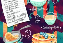 Foodie Illustrations and Recipes