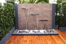 Water in the Landscape / Water elements integrated into outdoor spaces both large and small