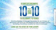 eneloop 10 for 10 Giveaways / 10 giveaways in celebration of eneloop's 10th anniversary