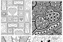 Colouring pages for adults and kids