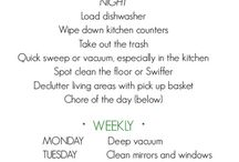 ORGANIZING AND CLEANING / by Bridgette Ellis