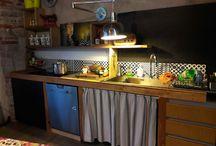 cucina legno di riuso