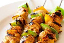 Juicy chicken kebab