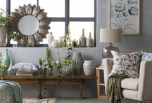 Botanist / A tonal palette of greens and grays inspired by the colors and textures of nature. Watercolor florals and organic patterns create an environment that is comfortable and carefree with a sense of rejuvenation.