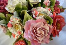 Fun Flowers / Flowers made of porcelain, silver, sugar and glass. / by Michelle's Vintage Jewelry