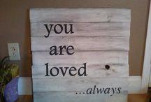 {Wood Sign Love}