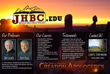 Jackson Hole Bible College / The unique Bible College behind The Ancient Man Project. JHBC offers a one-year program focused on practical creation apologetics and biblical studies leading to a Diploma in Biblical Foundations.