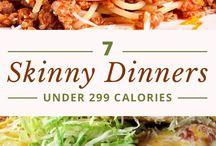 Skinny dinners/food