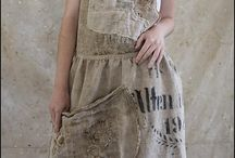 Textile Collage Clothing and Bags