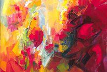 Abstrakty3 / - pri abstrakcii vychádzajúcej z kompozície ľudského tela, musí autor mať dôverné poznanie architektúry subjektu, technika maľby nerozhoduje o kvalite diela, nuansy koloritu podporujú výrazovú zložku a duchovno diela.