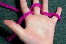 Knitting / Finger knitting