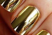 Gold nail Art / Nail Art with Gold, 24K Gold Foil