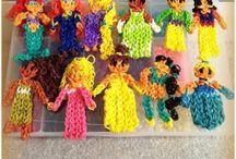Rainbow Loom / Alt i Rainbow Loom og små elastikker.