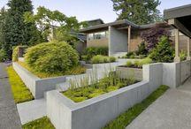 Zahrady, terasy