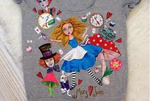 Art t-shirt / Alice in Wonderland